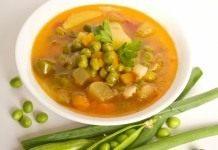 Суп с зелёным горошком