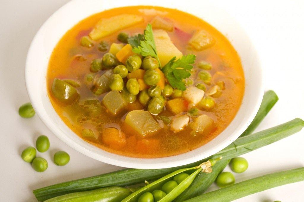 Суп с зеленым горохом