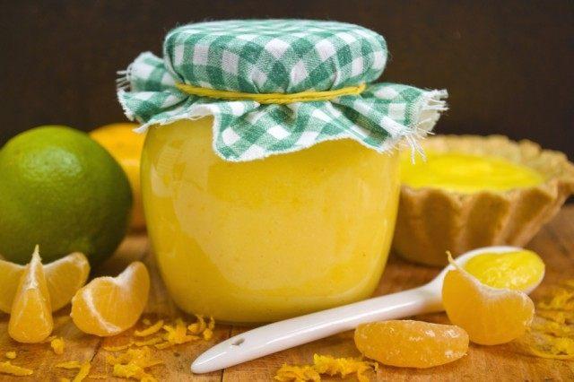 Курд апельсиновый с лаймом и мандаринами