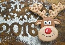 Печенье новогоднее «Олень Рудольф»