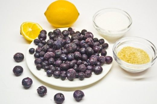 Ингредиенты для джема из голубики
