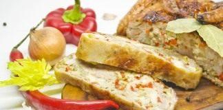 Фаршированная курица с овощами и панчеттой