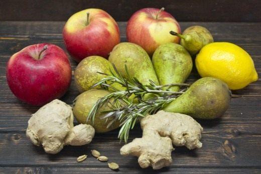 Ингредиенты для приготовления джема против простуды.