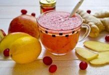 Фруктовый смузи с клюквой — витаминный коктейль