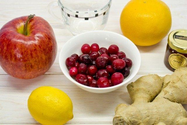 Ингредиенты для приготовления фруктового коктейля