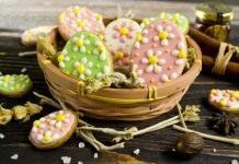 Пасхальное печенье с сахарной глазурью
