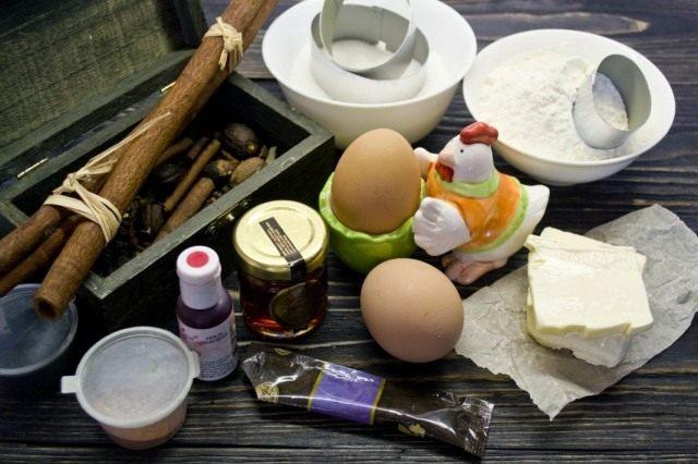Ингредиенты для приготовления пасхального печенья с сахарной глазурью