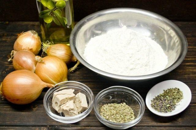 Ингредиенты для приготовления итальянской фокаччи