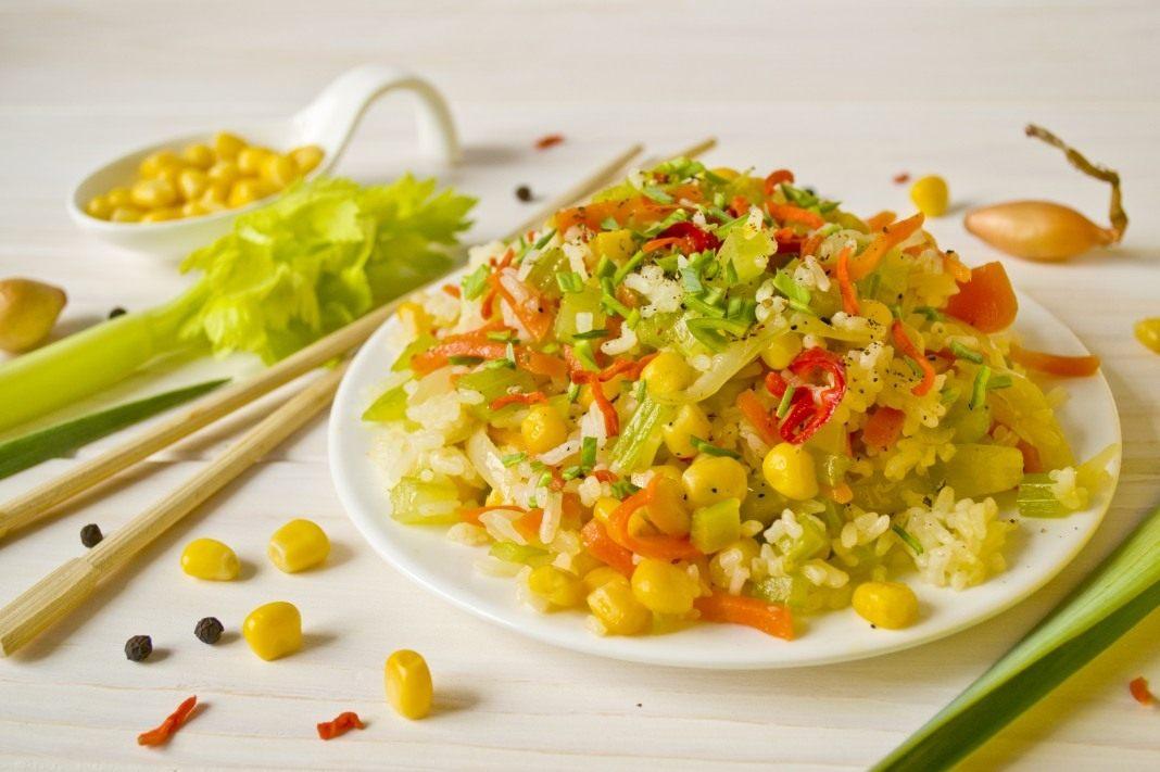 рецепты салат рис с перцем