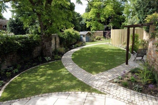 Планируя дизайн сада, в первую очередь определитесь с формой, лежащей в основе всего обустройства