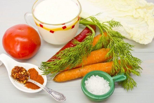 Ингредиенты для приготовления овощного смузи с похмелья