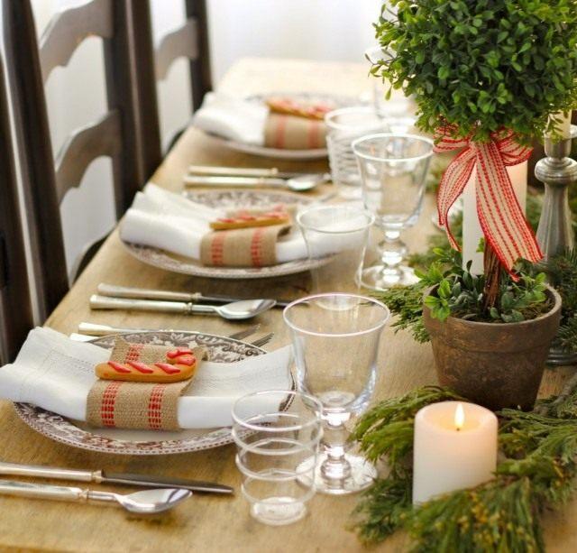 Декорирование праздничного стола с комнатными растениями