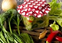 Зелёные щи на зиму – суповая заправка со шпинатом и сельдереем