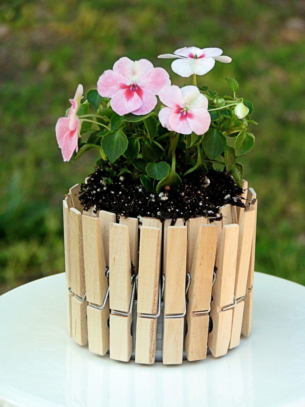 Оригинальные цветочные горшки своими руками фото