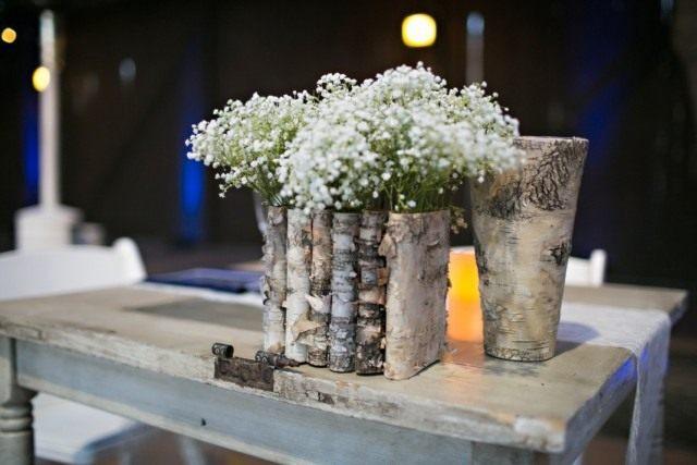 Декорирование цветочного горшка натуральной корой