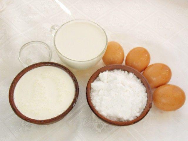 Ингредиенты для домашнего сливочного пломбира