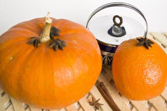 Ингредиенты для приготовления джема из тыквы с апельсинами.