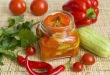 Овощной салат из запеченных овощей на зиму
