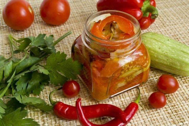 Овощной салат на зиму – салат из запеченных овощей