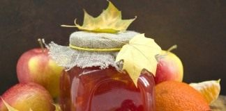 Повидло из яблок с клюквой и цитрусовыми