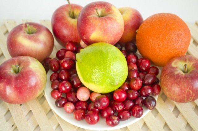 Ингредиенты для приготовления повидла из яблок с цитрусовыми