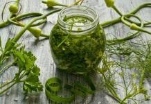 Заготовка зелени на зиму: приправа для салатов и супов с чесноком, укропом и петрушкой