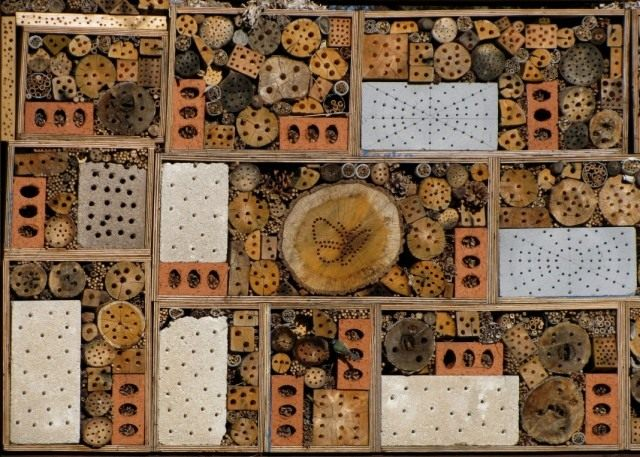 Домик для полезных насекомых из подручных материалов