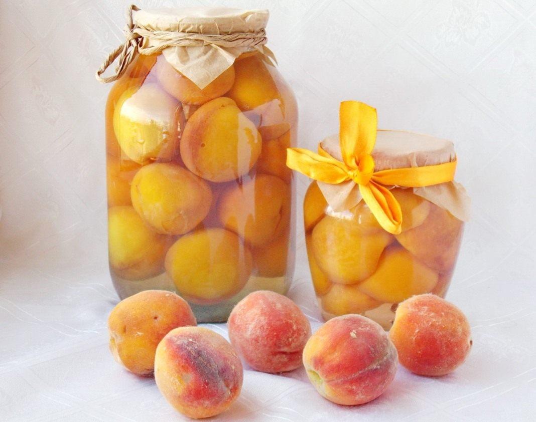 Рецепт консервовані персики