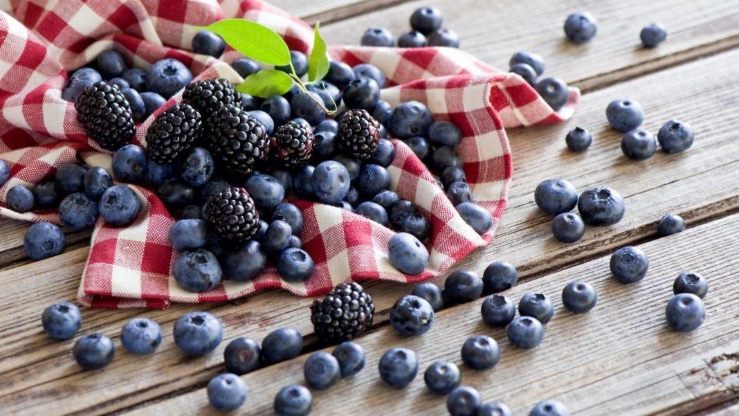 Blueberries-blackberries