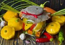Маринованные патиссоны с морковью и острым перцем