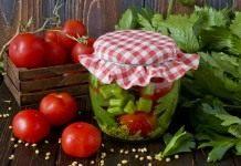 Маринованные помидоры с сельдереем и горчицей