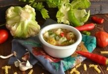 Вегетарианский суп с цветной капустой