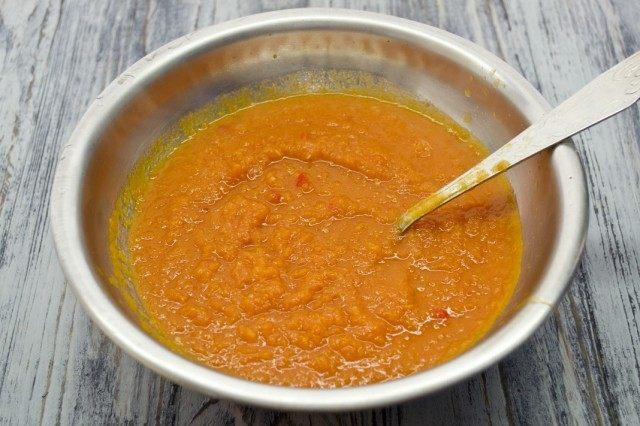 Увариваем овощной соус