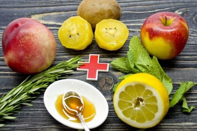 Ингредиенты для приготовления смузи «Киви-нектарин».