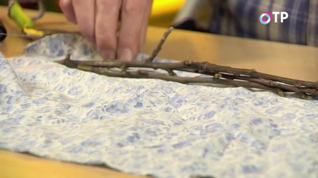 Выкладываем черенки на натуральную ткань