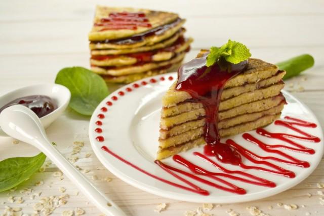 блинный торт малиновый рецепт