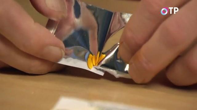Обработанные специальным раствором семена огурцов в дополнительном металлизированном пакете