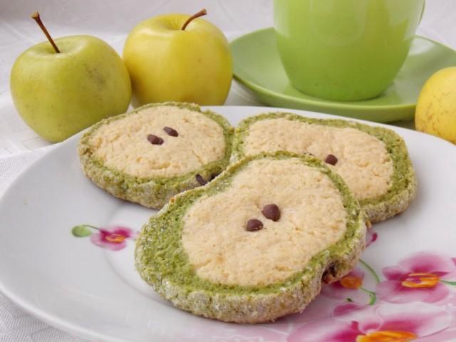 Песочное печенье «Зелёные яблоки»