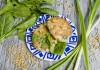 Котлеты из куриного филе со шпинатом и овсяными отрубями