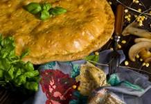 Пирог с мясом и грибами в духовке