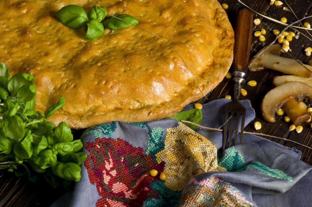 Пирог с грибами и мясом в духовке рецепт 5