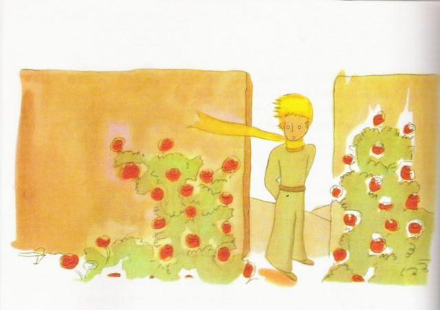Иллюстрация из книги Антуана де Сент-Экзюпери «Маленький принц»