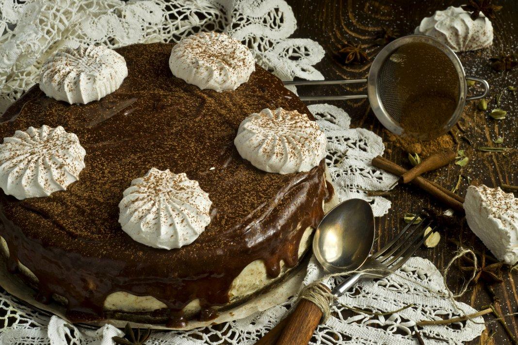 Шоколадный торт с рецепт с фото