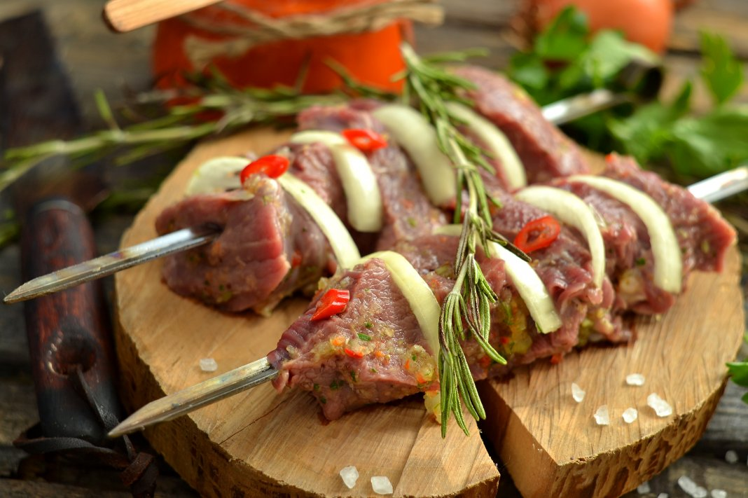 Сочный шашлык из говядины