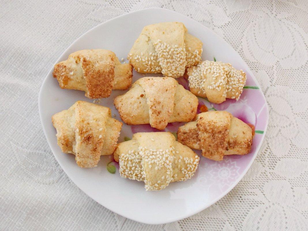 Печенье творожные ушки. Пошаговый рецепт с фото