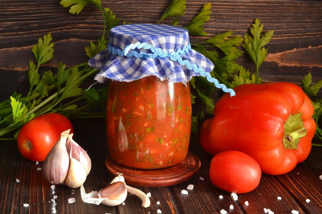 Соус из помидор с перцем болгарским