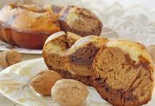 Орехово-шоколадный кекс