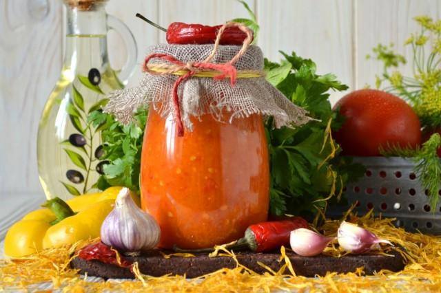 Томатный соус «Огонёк» из свежих помидоров - для пиццы или к шашлыку