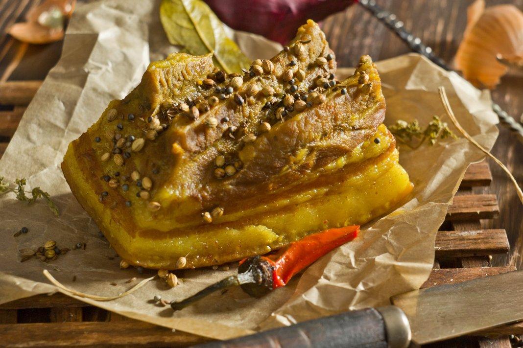 свиная грудинка рецепты приготовления в луковой шелухе