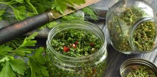 Зелень для супа и салата на зиму